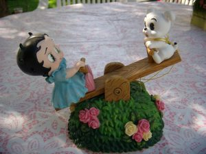 Betty Boop on a teeter totter
