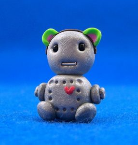 Cat Bot with Heart & Earphone
