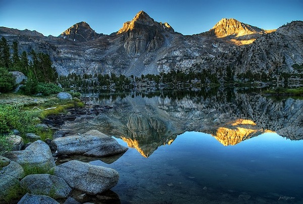 Reflective Mountain lake